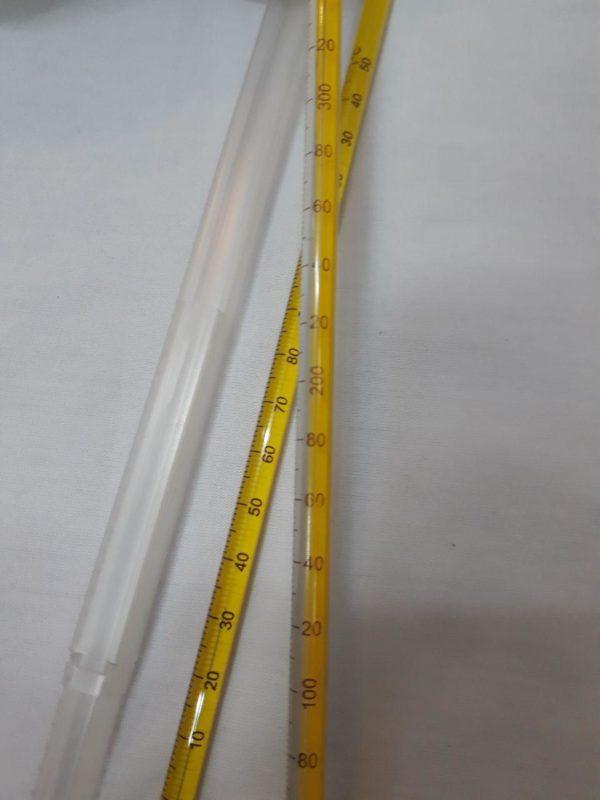 دماسنج جیوه ای مخصوص مایعات رنج 10- تا 360+ درجه