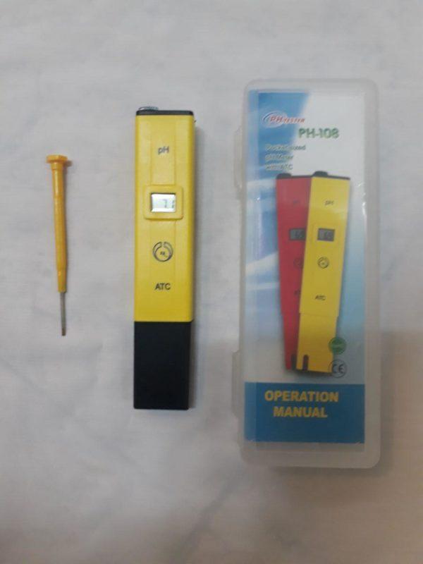 پی اچ متر قلمی رنج اندازه گیری 0 تا 14